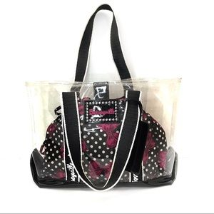 Betseyville Betsey Johnson Clear Stadium Bag Tote